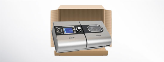 Certified Refurbished CPAP Machine in open box